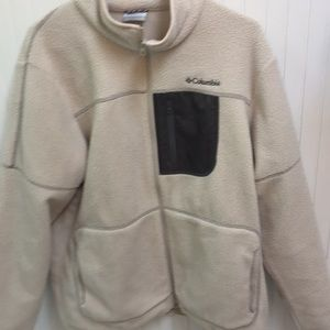Columbia fleece zip jacket